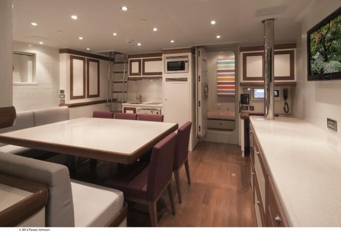 Cheoy Lee yacht Mazu - Crew Mess