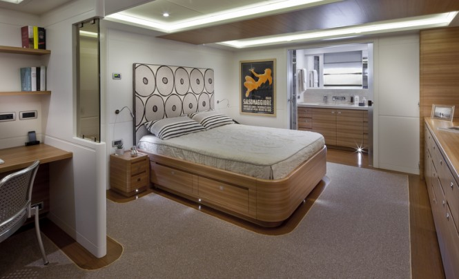 Comfortable cabins aboard Percheron superyacht - Photo by Maurizio Paradisi