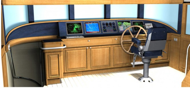 Dauntless yacht D85 - Wheelhouse