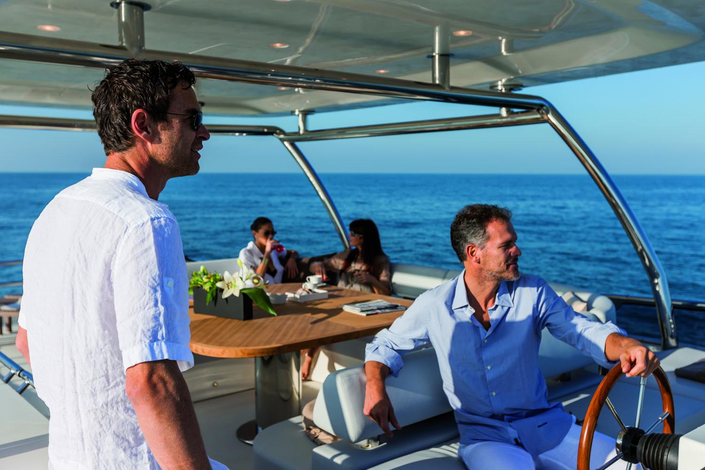 Enjoying time aboard Magellano 76 yacht by Azimut Yachts