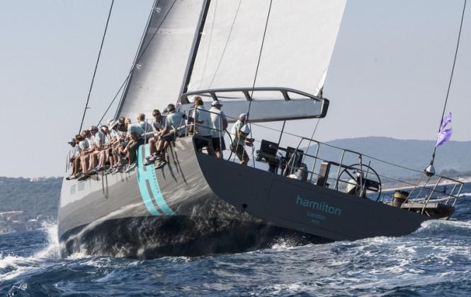 Hamilton superyacht - rear view Photo by YCO