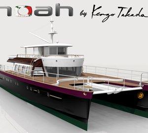 Alu Marine catamaran yacht NOAH 88' concept designed by Kenzo Takada nominated for IY&A Award 2013