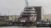Launch of the 87m Lurssen motor yacht project Global
