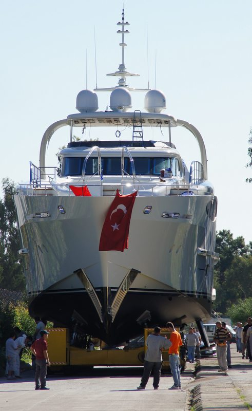 Launch of the newest Bronko I yacht - front view