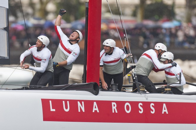 Luna Rossa Team competing in the Naples ACWS 2012