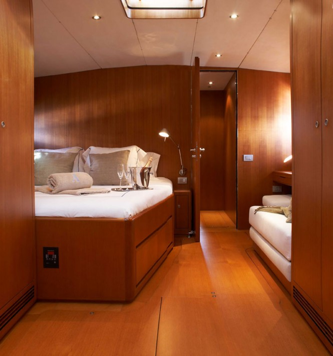 Luxurious cabins aboard Sejaa yacht