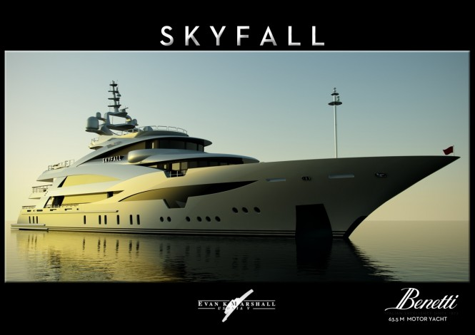 Luxury Superyacht SKYFALL - Design concept by Evan K Marshall for Benetti