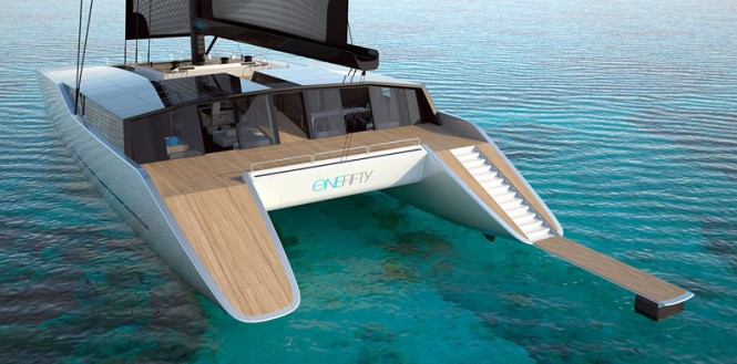 Luxury catamaran yacht One Fifty by Sunreef