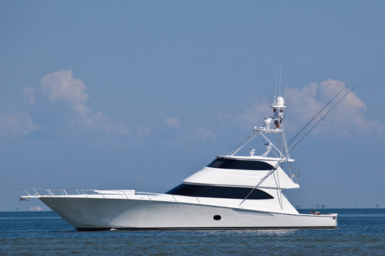 Luxury motor yacht Viking 82 Enclosed Bridge Convertible equipped with Seakeeper M26000 gyros