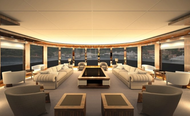 Luxury superyacht Cbi 675 project - Main Saloon