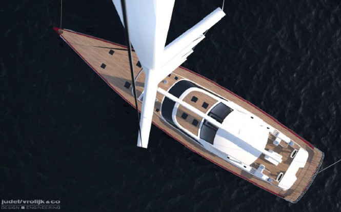 Luxury yacht Baltic 116 - view from above