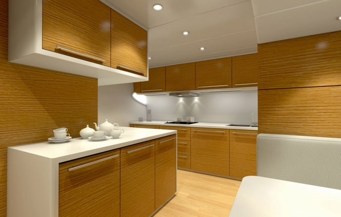 Luxury yacht Bronko I - Galley
