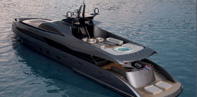 Luxury yacht ER175 concept - rear view