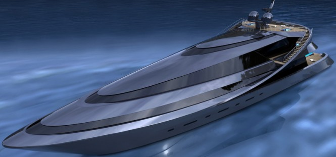 Luxury yacht MANTA concept - gray top