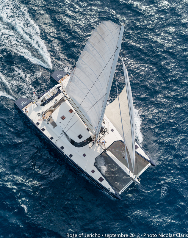 Luxury yacht Rose of Jericho - view from above