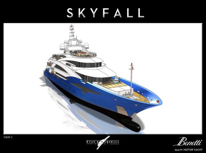 Luxury yacht Skyfall concept