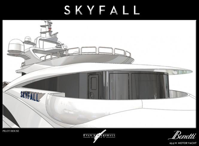 Luxury yacht Skyfall concept - Pilot House