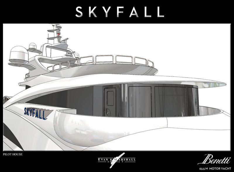 luxury yacht skyfall concept pilot house motor skyfall