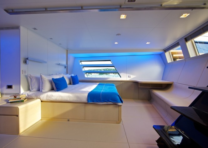 Luxury yacht Wally 50m Better Place - Owner's suite starboard side with queen size bed -PhotoToni Meneguzzo