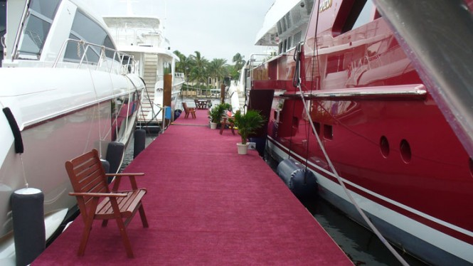 Luxury yachts by Cheoy Lee on display at the 2012 FLIBS
