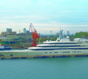 Fincantieri Trieste Shipyard completes drydock on luxury yacht ECLIPSE
