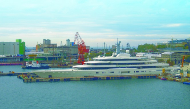 Megayacht ECLIPSE at Fincantieri Trieste Shipyard