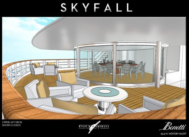 Megayacht Skyfall concept - Upper Aft Deck