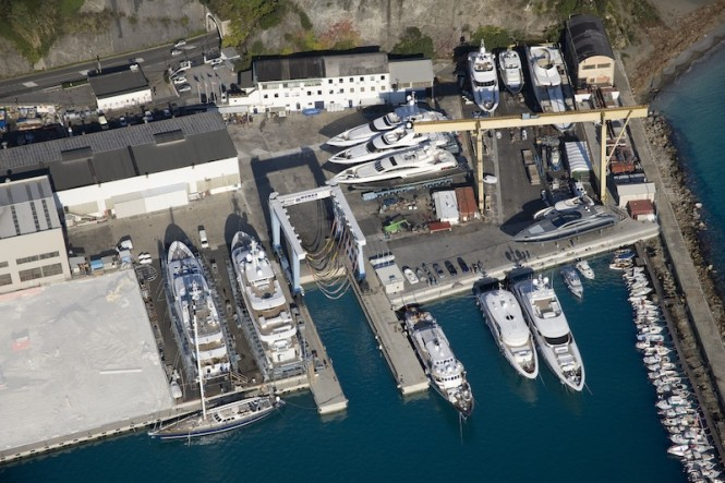 Mondo Marine shipyard from above