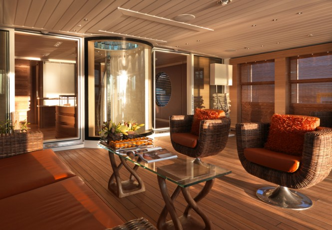 Moonen yacht Sofia - Open Lounge