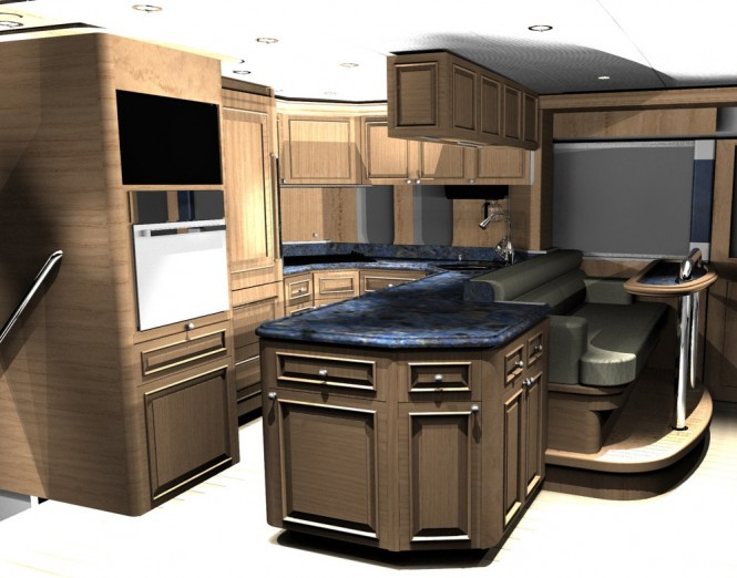 Motor yacht D85 - Galley