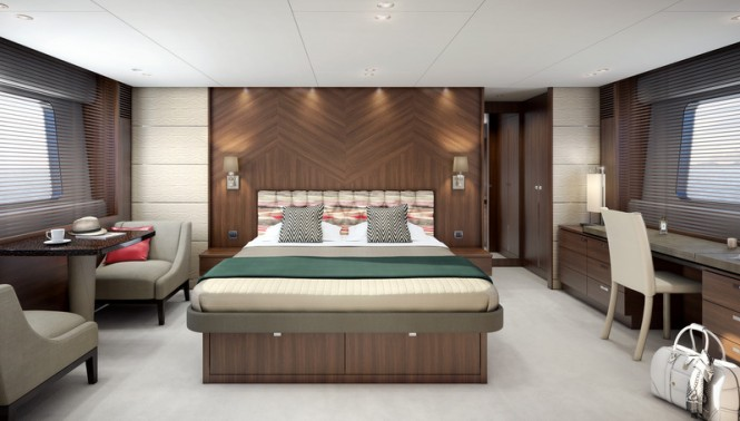 Princess 82 superyacht - Owner's Stateroom