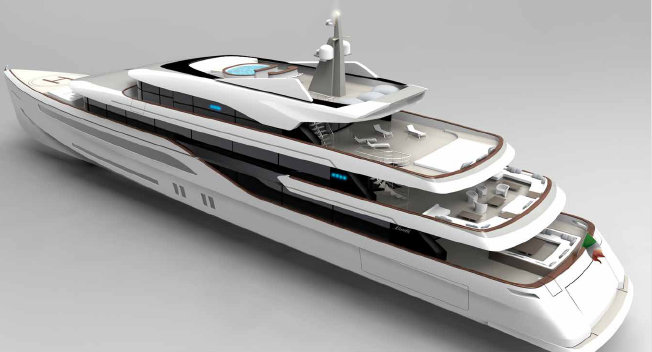 QS Benetti Innovation 70 yacht concept - Decks