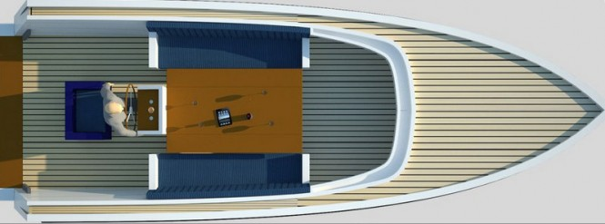 Rendering of Smalland Tempo yacht tender by Smalland Maritiem