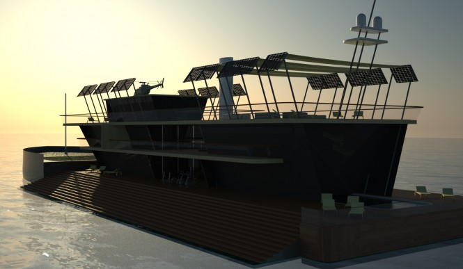 Rendering of the Nemus Dianae superyacht concept