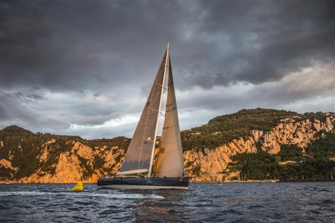 Rolex Volcano Race 2012 Line honours winner - superyacht Nilaya - Photo by RolexKurt Arrigo