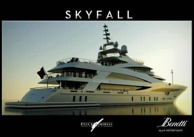 SKYFALL yacht - Designed by Evan K Marshall for Benetti Design Innovation Project