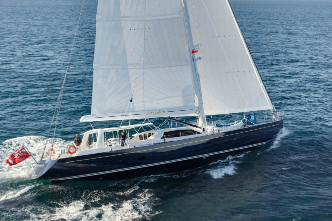 Sailing yacht Antares III built by the NZ yard Yachting Developments