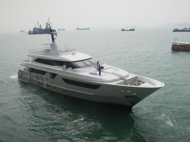 Sanlorenzo SD122 superyacht Lady Cecilia on the water