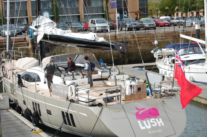 Shark Boom fitted on the newly launched Oyster 885 yacht Lush