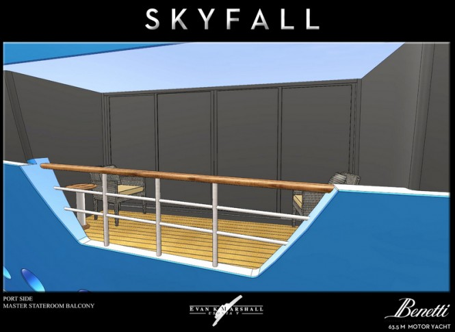 Skyfall yacht concept - Master Stateroom Balcony