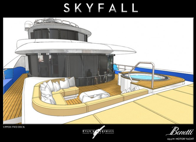Skyfall yacht concept - Upper Forward Deck