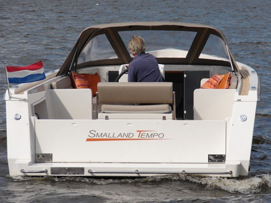 Smalland Tempo yacht tender - rear view