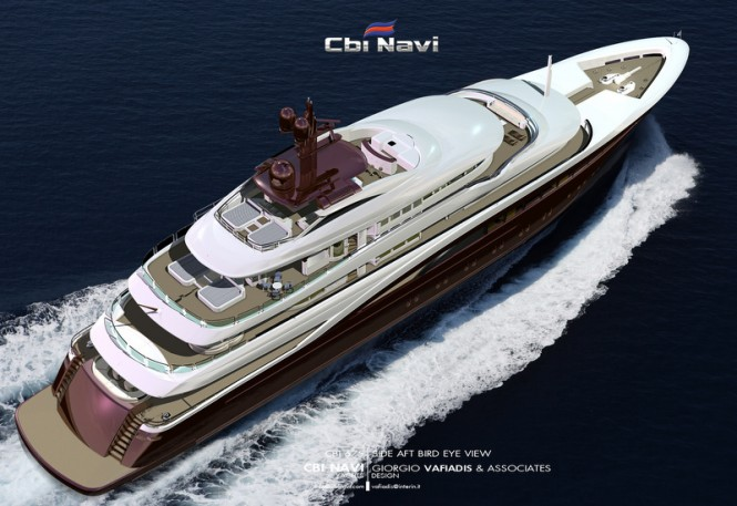 Superyacht Cbi 675 concept - view from above
