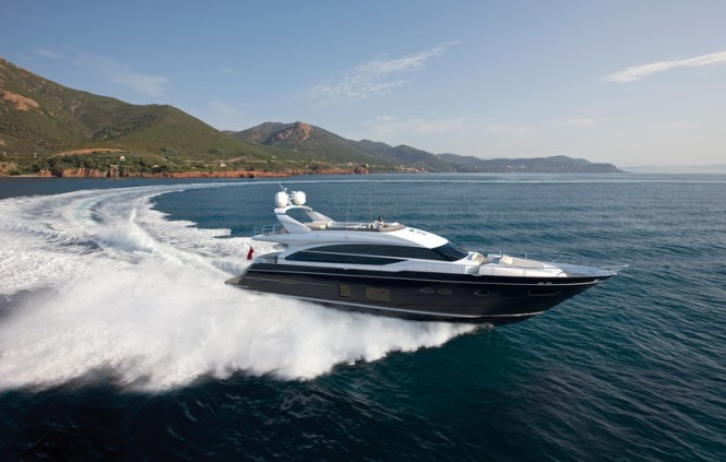Superyacht Princess 82 running