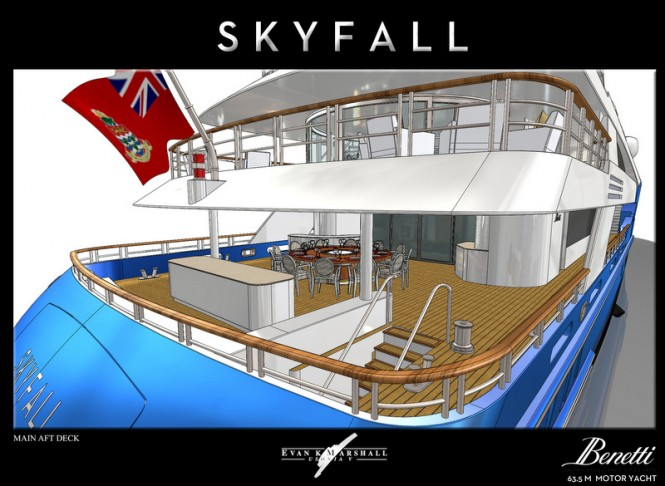 Superyacht Skyfall concept - Main Aft Deck