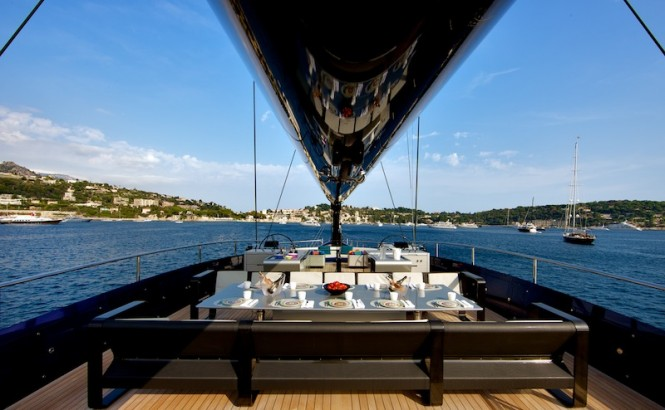 Wally50m Better Place yacht - dining area in sundeck - Photo Toni Meneguzzo