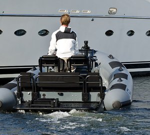 Images of the new 19ft Rupert custom yacht tender for Wally Ace superyacht KANGA