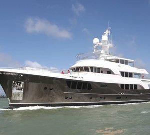 Rene van der Velden designed 39m Alloy superyacht CaryAli