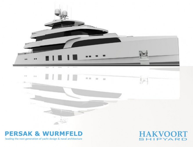 45m Persak & Wurmfeld Expedition Yacht Concept for Hakvoort Shipyard