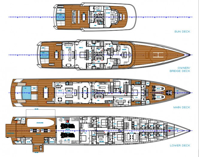 60m Persak Wurmfeld Megayacht Concept - Arrangement